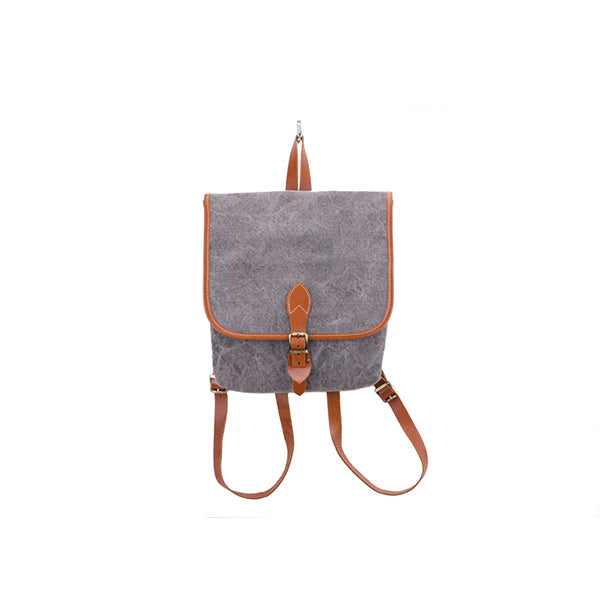 Coconut Mini Backpack | Grey Washed Canvas - hippist.co.uk