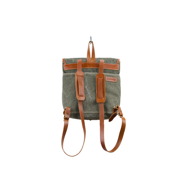 Coconut Mini Backpack | Khaki Washed Canvas - hippist.co.uk