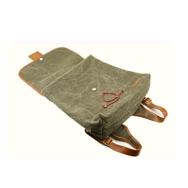 Koala Large Backpack | Khaki Washed Canvas - hippist.co.uk