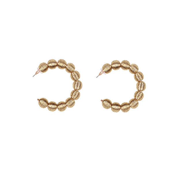 Dahlia | Gold Hoop Earrings - hippist.co.uk