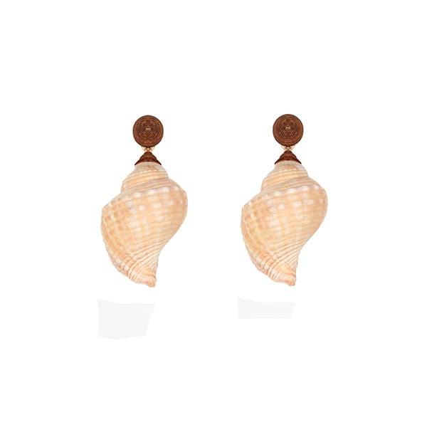 Underwater | Periwinkle Natural Brown Large Earrings