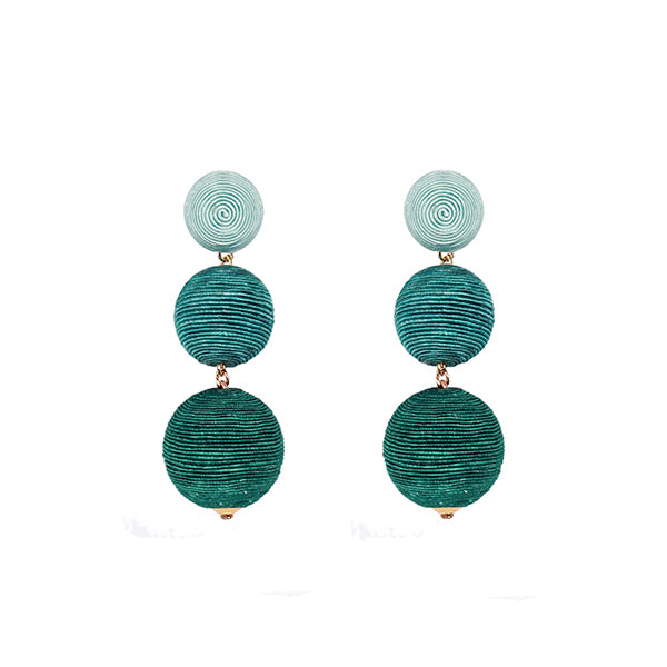 Dahlia | Light & Dark Green Earrings - hippist.co.uk