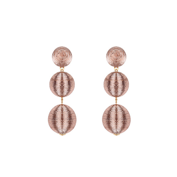 Dahlia Earrings | 3 Drop Rose Gold