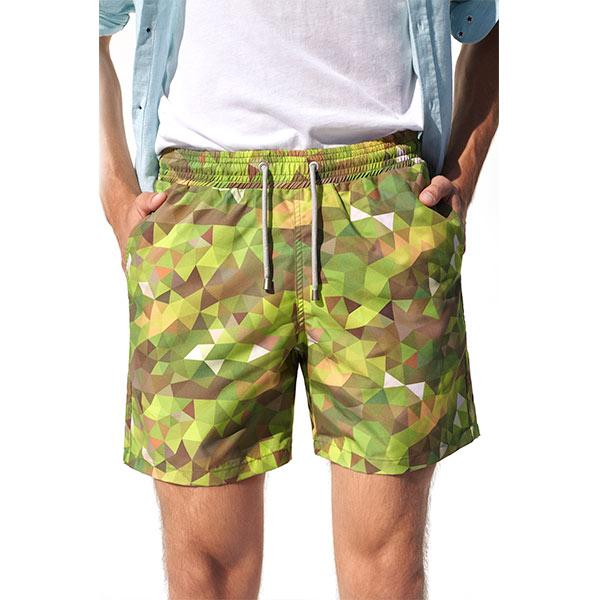 Camo Swim Shorts | Khaki - hippist.co.uk