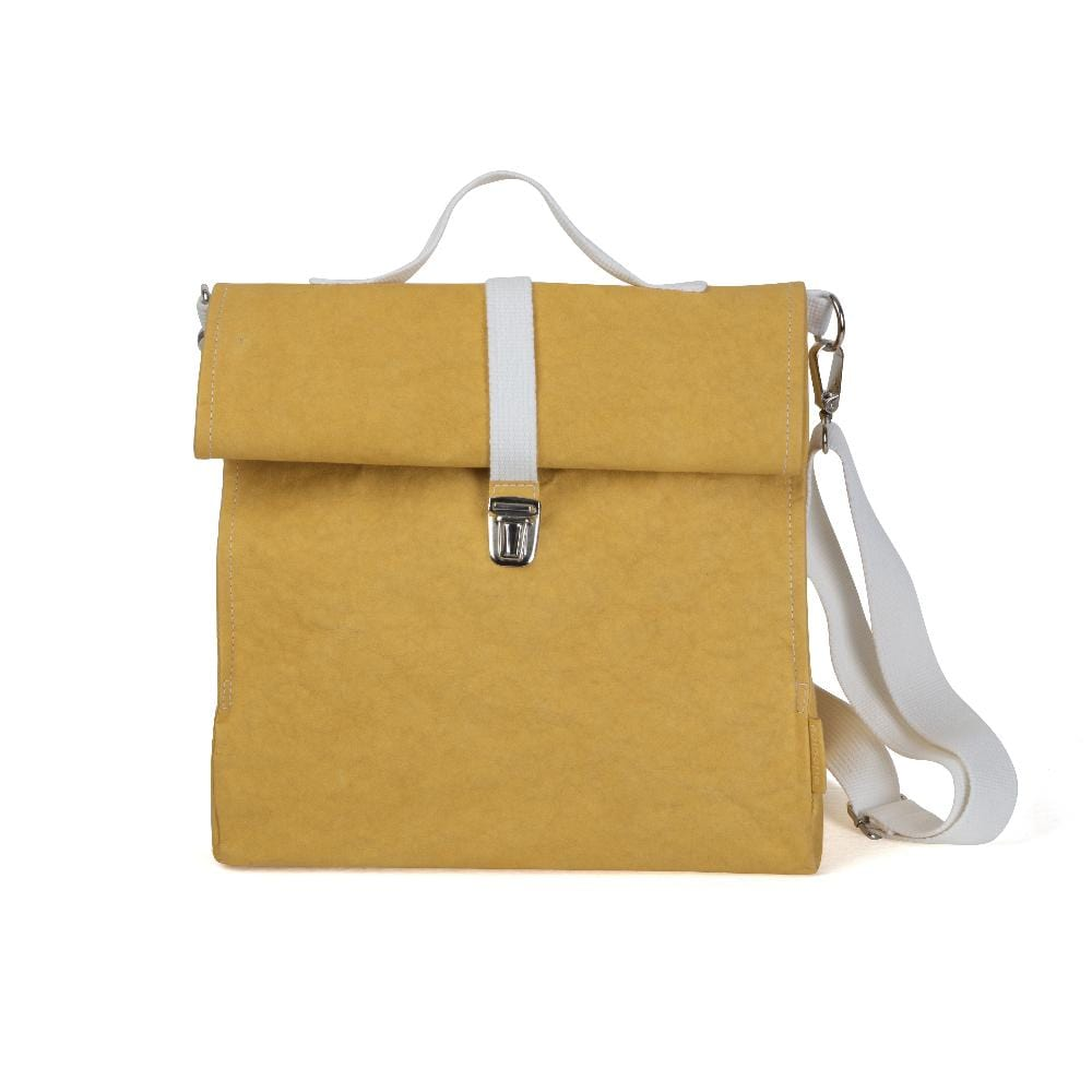Epidotte Mustard Colour Lunch Bag Case from Eco-friendly paper at hippist.co.uk