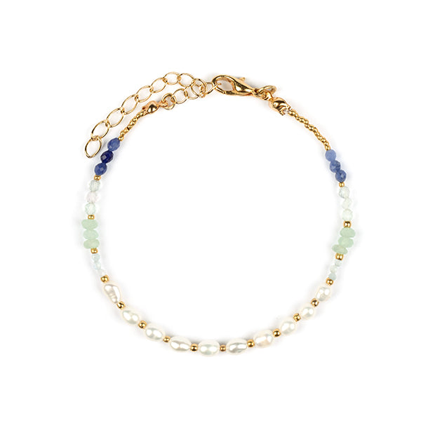 Marianne Natural Pearl & Natural Stone Bracelet