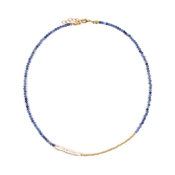 Marion Natural Pearl Sodalite Necklace