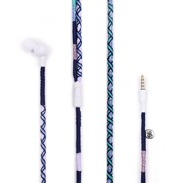 lilac navy light blue black handmade jbl earphones