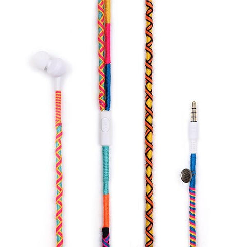 Happy-nes Apple iPhone 7, 8, X Earphones | Blue Disco