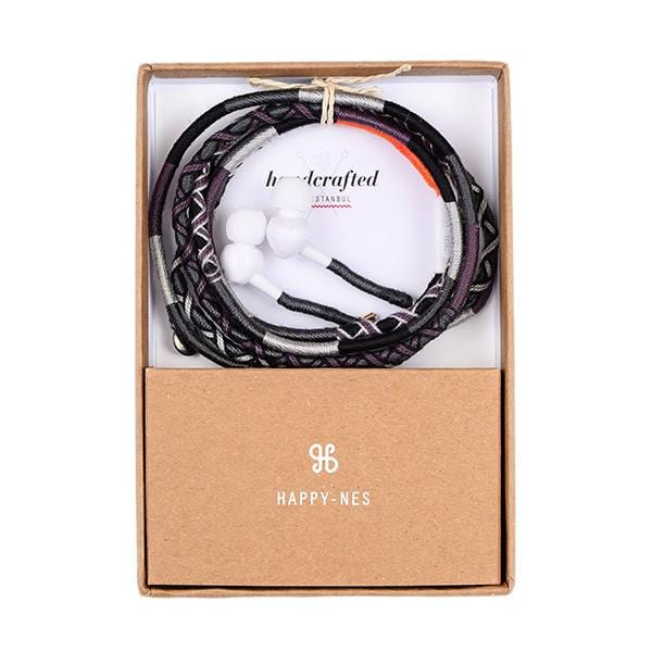 colourful happynes branded jbl earphones in a gift box