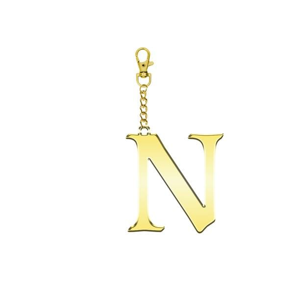 Why Note!? N Letter Bag Accessory and Key Holder at hippist.co.uk
