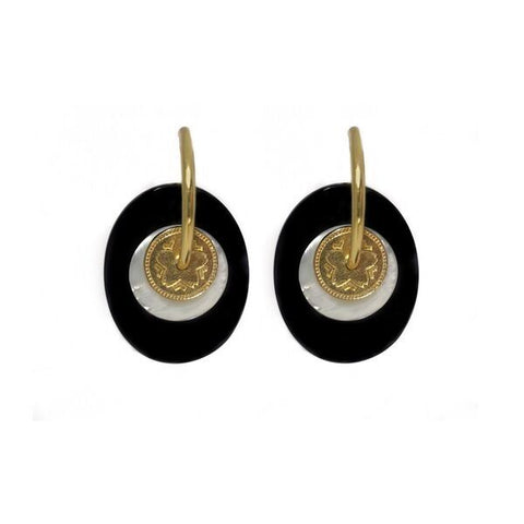 Onyx Sakura Earrings