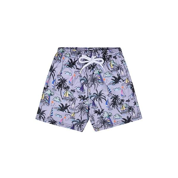 Sailboat patterned swim shorts for 2-12 years