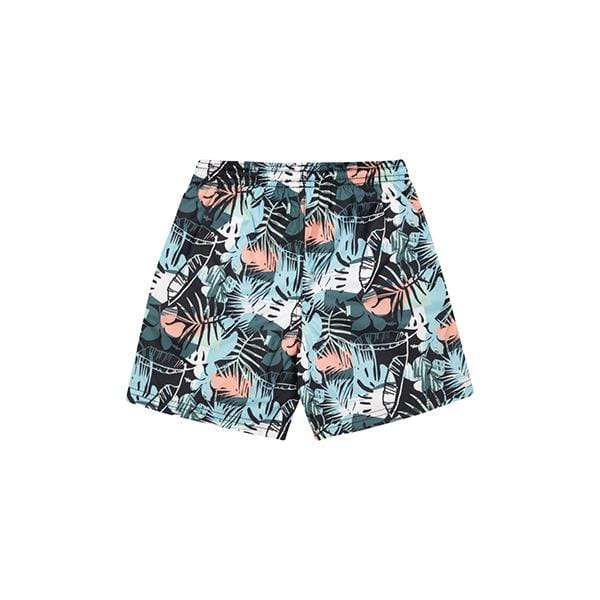 Patterned green swim shorts for 2-12 years