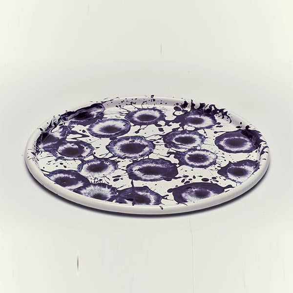 28 cm, Purple Enamel Tray
