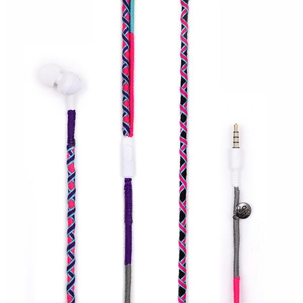purple grey blue pink colours handmade jbl earphones