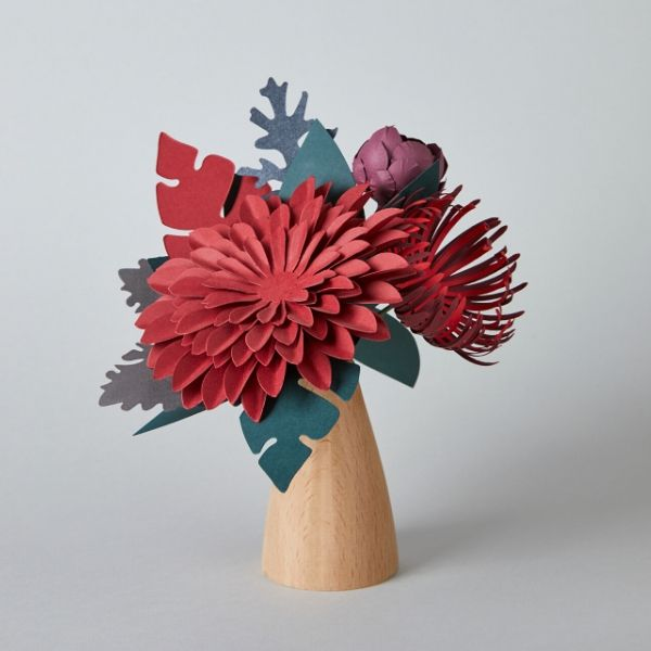 Ruby Paper Flower Bouquet