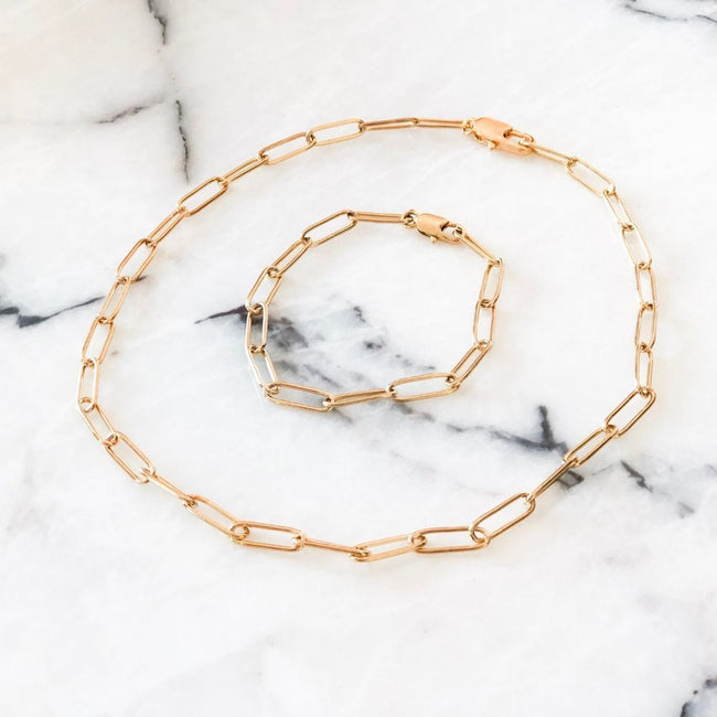 Rue Gold Plated Chain Necklace