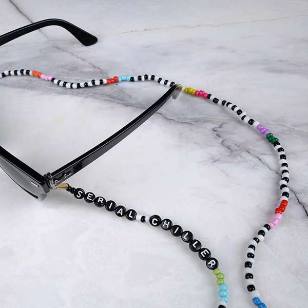 Personalised Beaded Eyeglass Chain | Serial Chiller