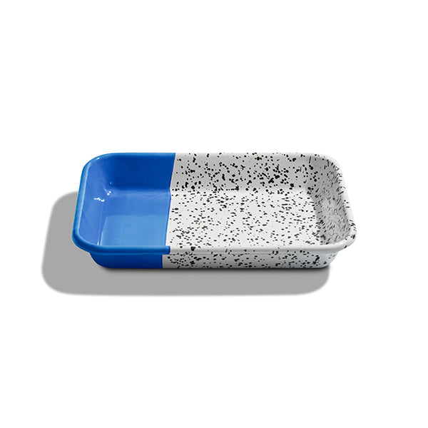 26 x 18 x 4 cm, Cobalt Blue Enamel Serving Tray