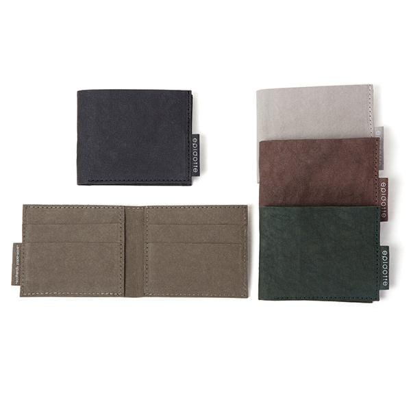 5 different colour short wallet from eco friendly paper