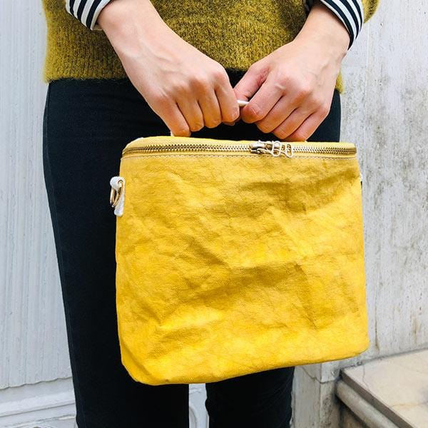 the bag mustard from eco-friendly paper