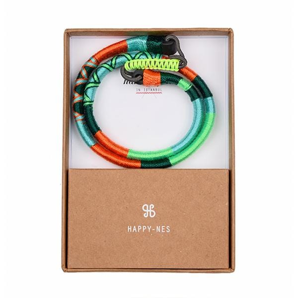 colourful happy-nes branded festival headband in a box hippist.co.uk