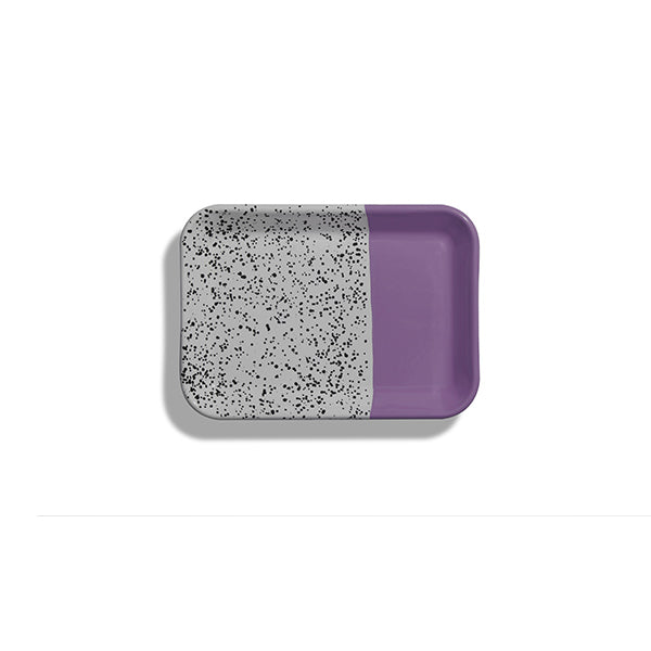 26 x 18 x 1.5 cm, Purple Enamel Tray