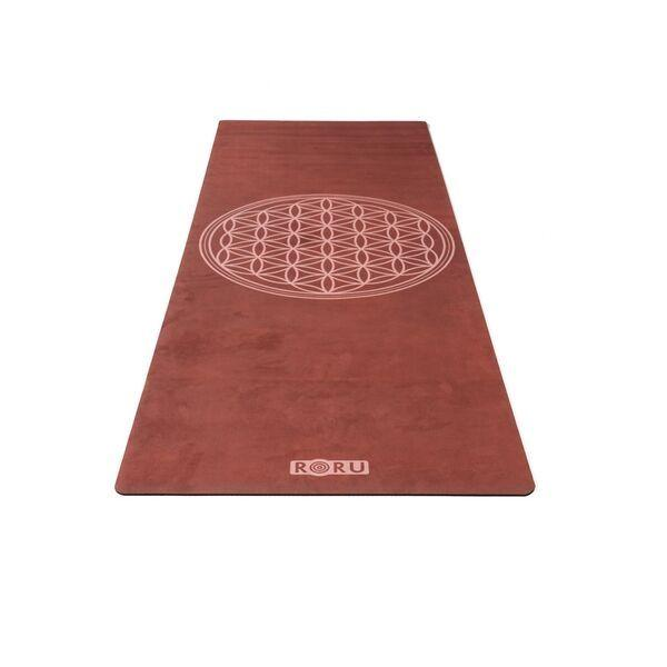 Roru moon series 3 mm thickness microfiber yoga mat with tree fo life symbol at hippist