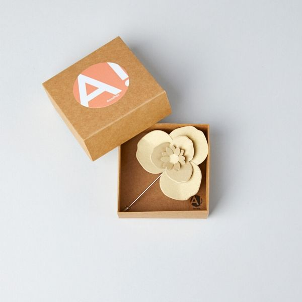 Trio Paper Flower Brooch