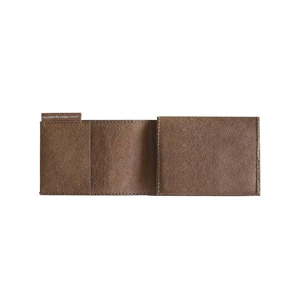 wallet for him chocolate from eco-friendly washable paper