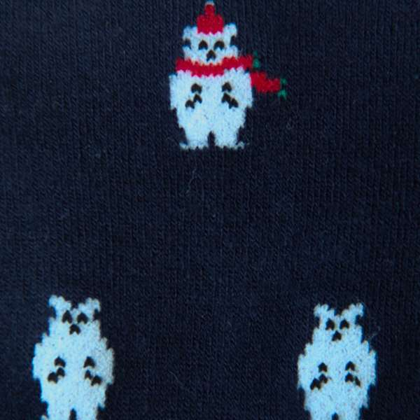 Fundaze branded navy bamboo socks with Polar Bear pattern at hippist.co.uk