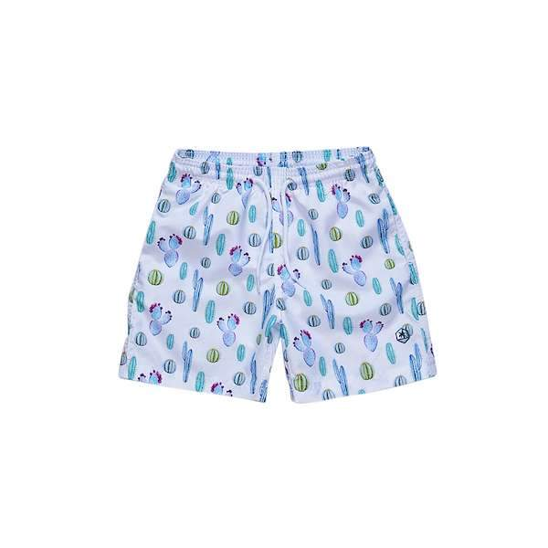 Cactus printed swim shorts for 2-10 years