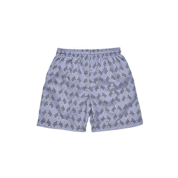 Gery flag print swim shorts for 2-10 years