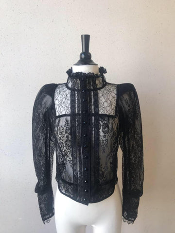 LACE CARDI BLOUSE- Sample Sale