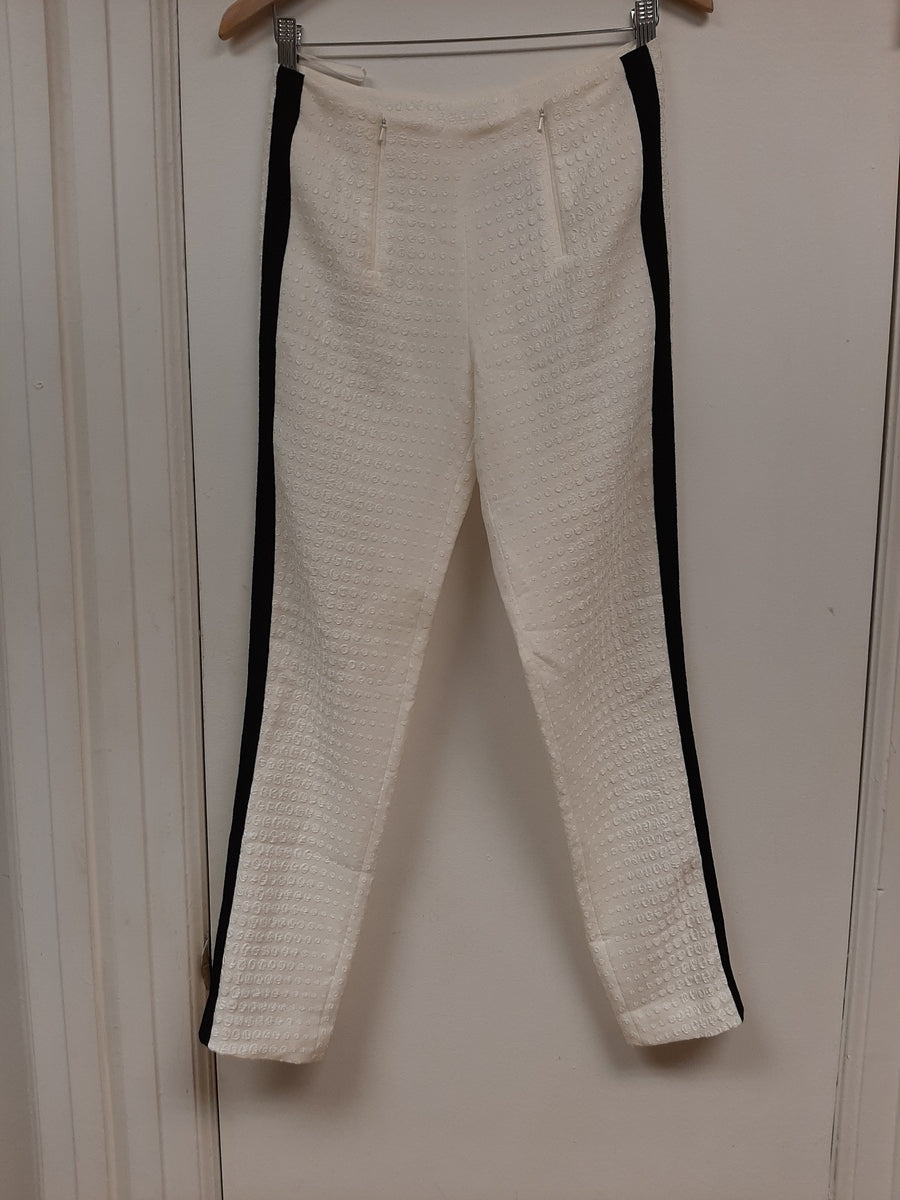 Ivory Pant with 2 side Tape Strap- Sample Sale