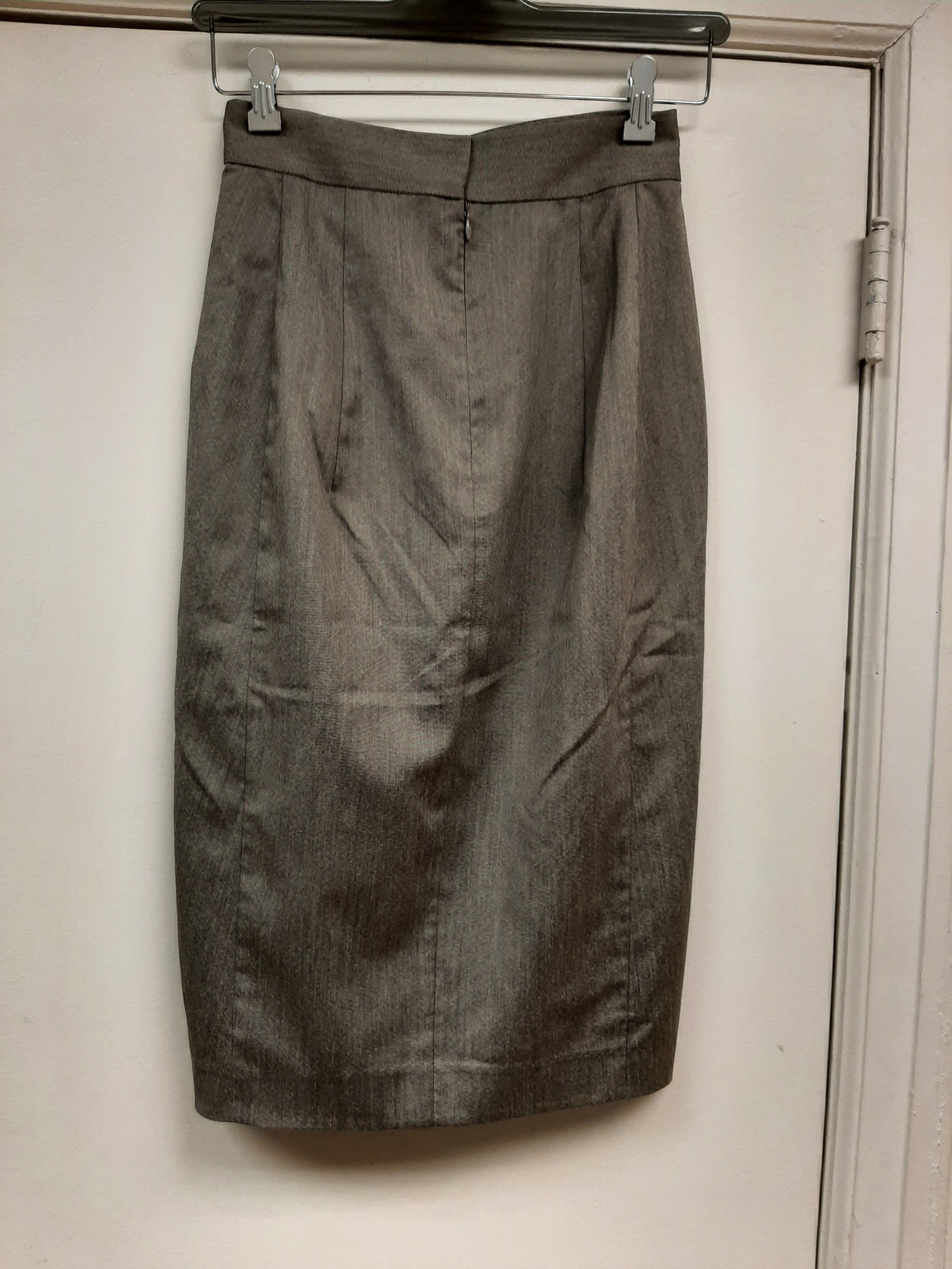 Grey One Side Pleat Skirt - Sample Sale