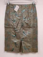 Green Metallic Skirt- Sample Sale