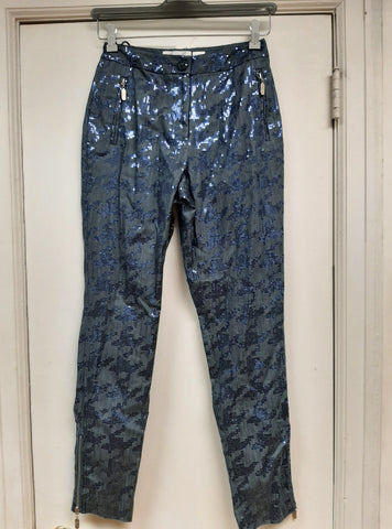 Indigo Sequin Pant- Sample Sale