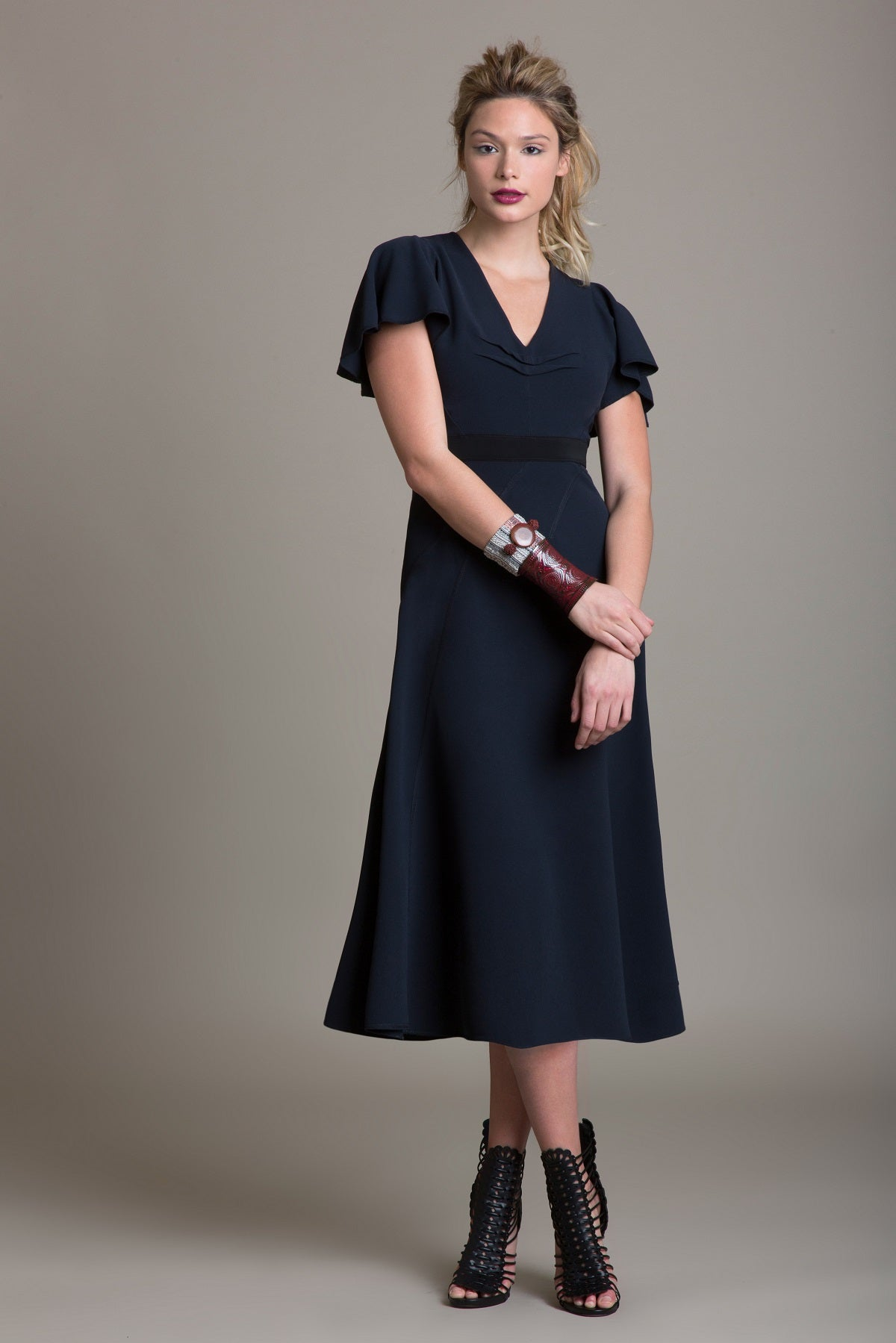 Tailored Drape Bias Cut Dress - Sample Sale