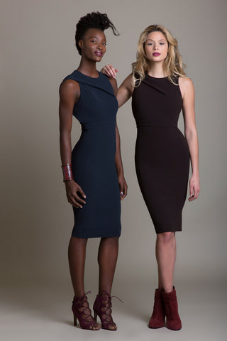 Tailored Drape BL Signature Twist Shoulder Sheath - Sample Sale