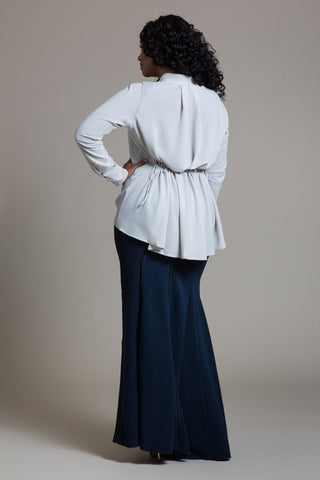 Tailored Drape Bias Cut Maxi Skirt - Byron Lars Beauty Mark