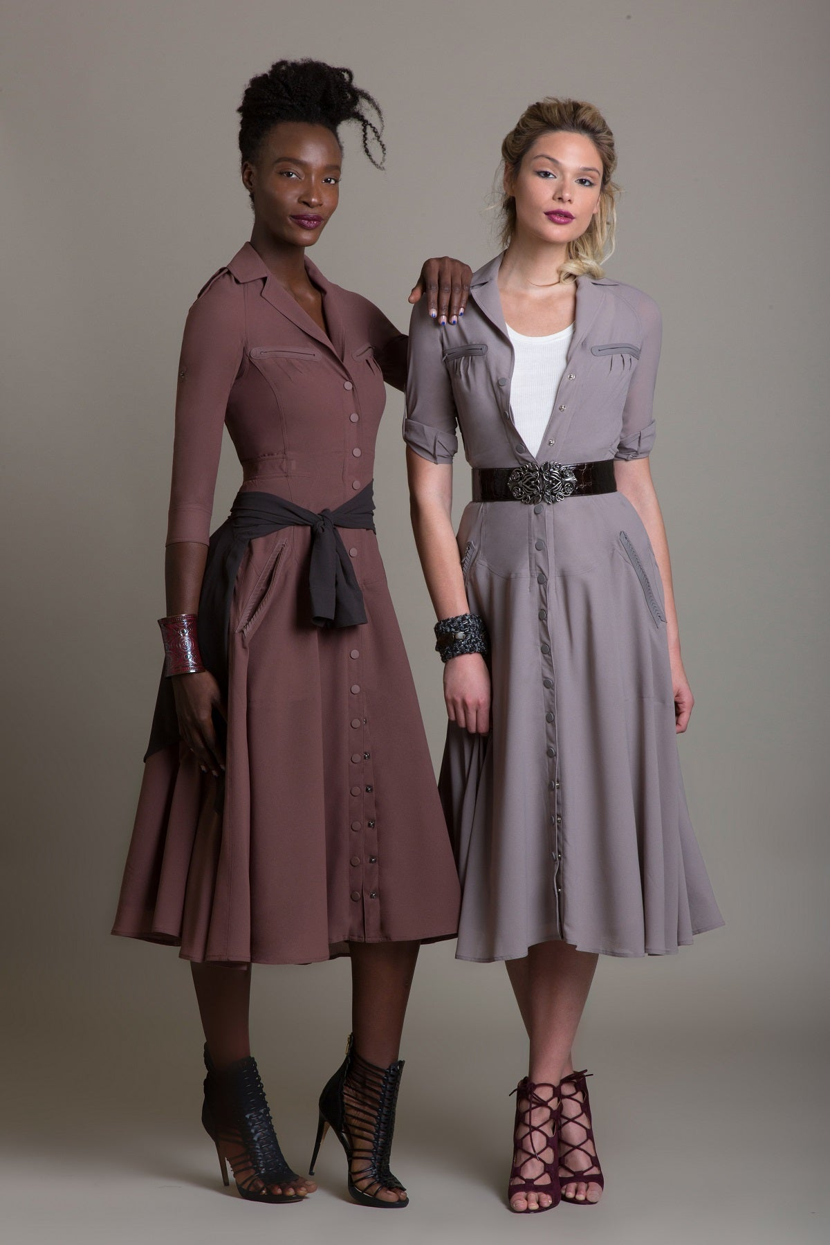 Fit & Flare Dress with Shirt Belt - Sample Sale