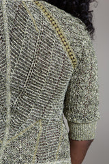 Kapok Knit Fringe Cardigan - Byron Lars Beauty Mark