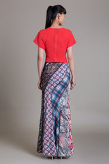 Mix Print Bias Maxi Siren Skirt - Sample Sale