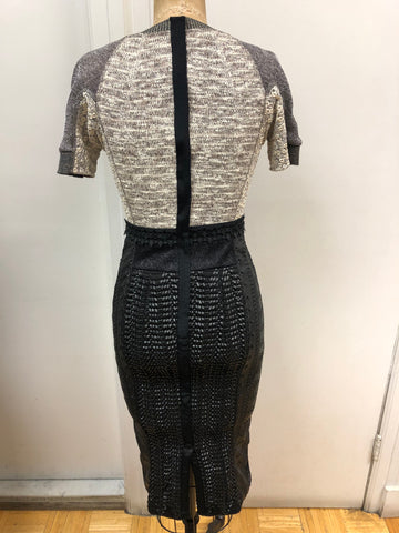 Vegan Leather Mix Dress - Sample Sale