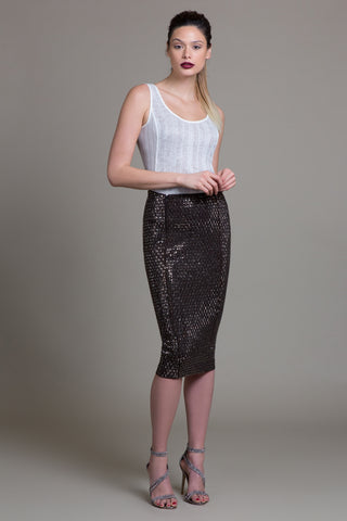 Crystal Carrington Mercury Beaded Skirt