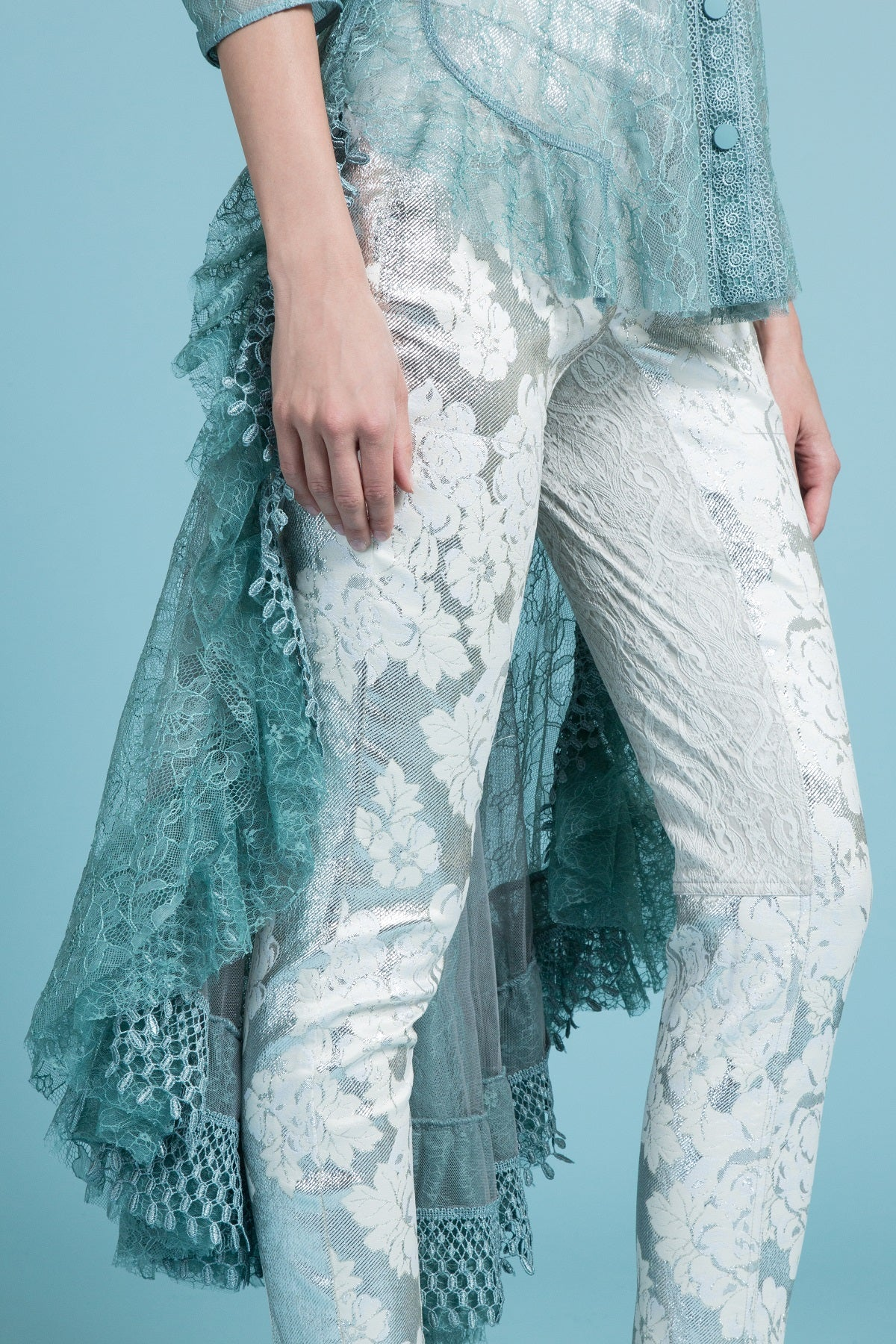 Cascading Lace Duster