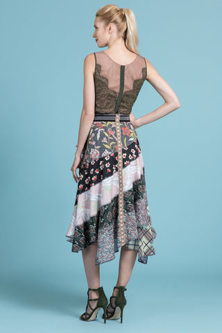Patchwork Cascading Skirt