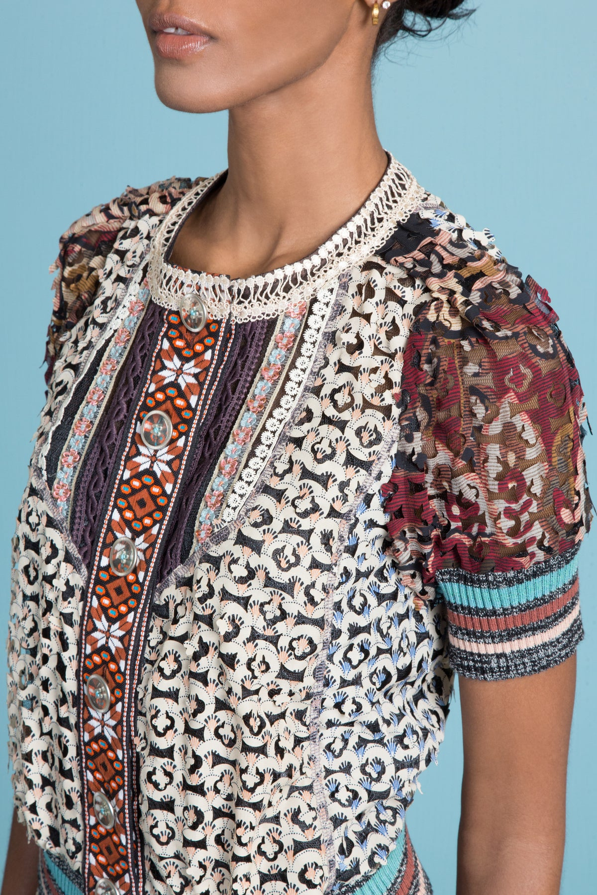 Mixed Bouquet Cardi Blouse